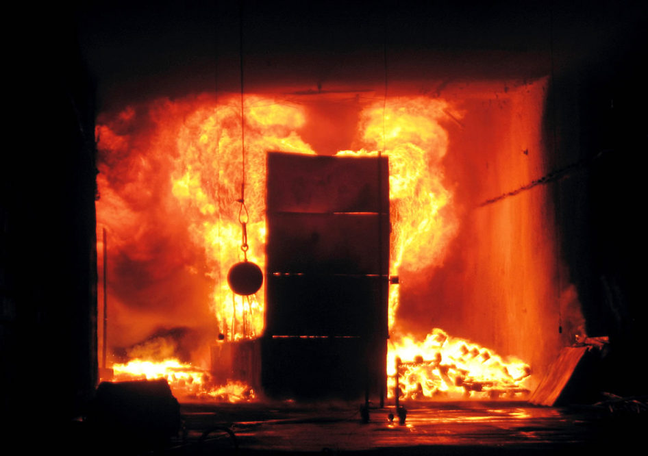 Real scale fire and ventilation tests